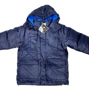 Kids navy winter insulated hooded jacket!